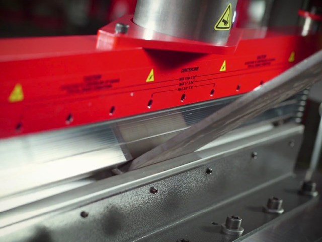 Press Brake on a Shop Press